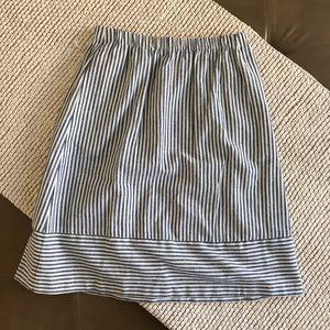 J. Crew Pinstripe Skirt